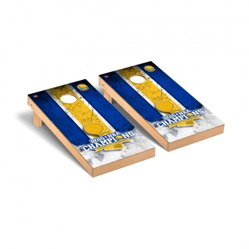 Golden State Warriors 2015 NBA Champions Vintage Cornhole Game Set