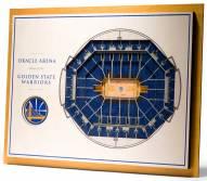 Golden State Warriors 5-Layer StadiumViews 3D Wall Art