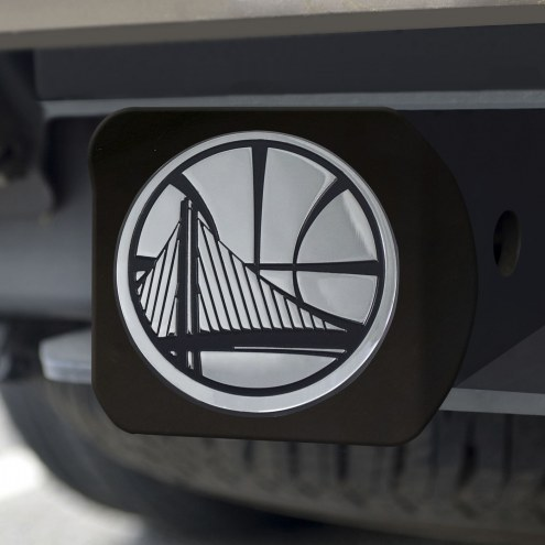 Golden State Warriors Black Matte Hitch Cover