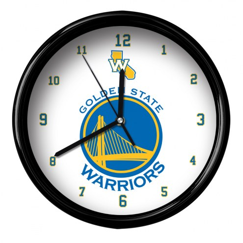 Golden State Warriors Black Rim Clock