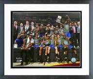 Golden State Warriors Celebrate Winning Game 6 of the NBA Finals Framed Photo