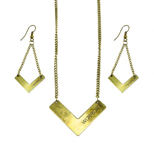 Golden State Warriors Chevron Jewelry Set
