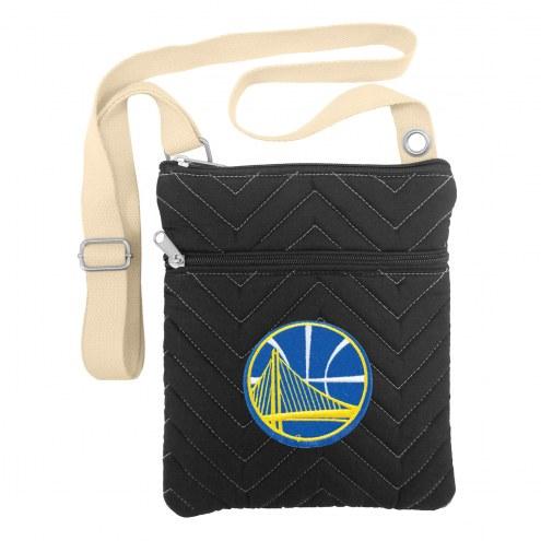 Golden State Warriors Chevron Stitch Crossbody Bag