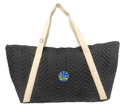 Golden State Warriors Chevron Stitch Weekender Bag