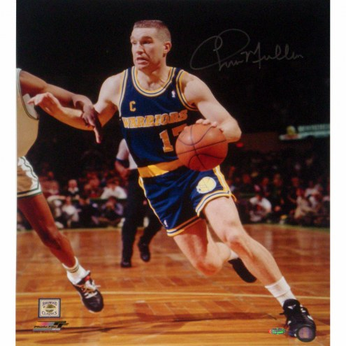 """Golden State Warriors Chris Mullin Drive to Basket Left Handed Signed 16"""" x 20"""" Photo"""