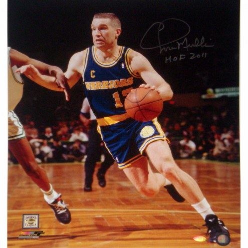 """Golden State Warriors Chris Mullin Drive to Basket w/ """"HOF 2011"""" Signed 16"""" x 20"""" Photo"""