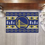 Golden State Warriors Christmas Sweater Starter Rug