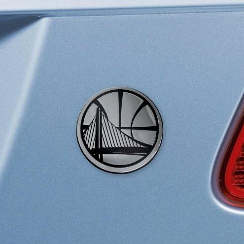 Golden State Warriors Chrome Metal Car Emblem