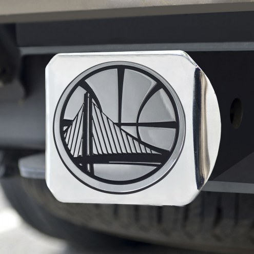 Golden State Warriors Chrome Metal Hitch Cover