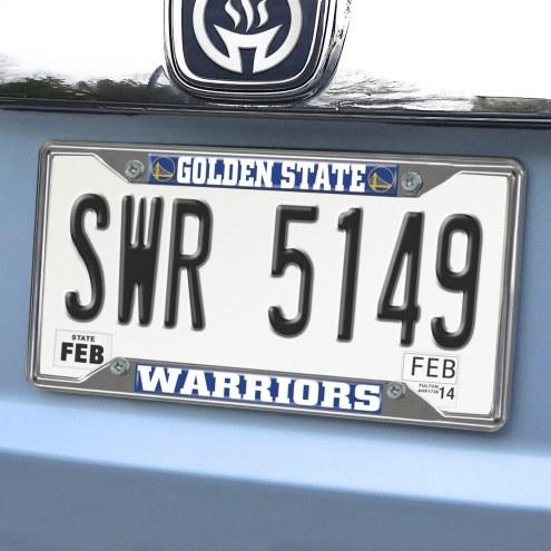 Golden State Warriors Chrome Metal License Plate Frame