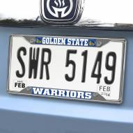 Golden State Warriors Chrome Metal License Plate Frame