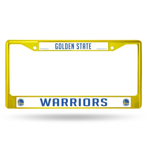 Golden State Warriors Colored Chrome License Plate Frame