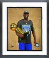 Golden State Warriors Draymond Green with the NBA Championship Trophy Framed Photo
