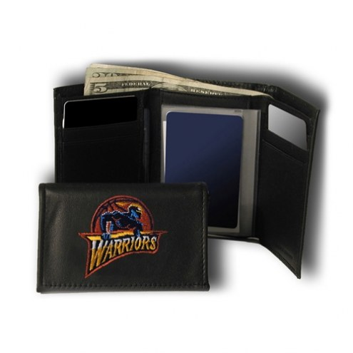 Golden State Warriors Embroidered Leather Tri-Fold Wallet