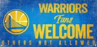 Golden State Warriors Fans Welcome Wood Sign