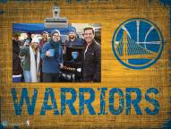 Golden State Warriors Wood Clip Frame