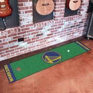 Golden State Warriors Golf Putting Green Mat