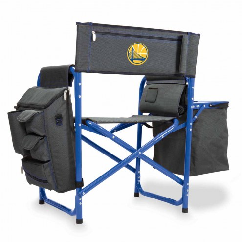 Golden State Warriors Gray/Blue Fusion Folding Chair