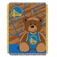 Golden State Warriors Half Court Baby Blanket