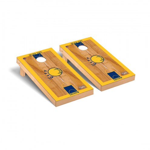 Golden State Warriors Hardwood Classic Basketball Court Cornhole Game Set