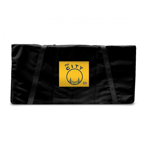 Golden State Warriors Hardwood Classic Cornhole Carrying Case