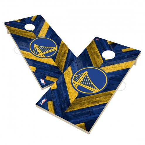 Golden State Warriors Herringbone Cornhole Game Set