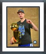 Golden State Warriors Klay Thompson with the NBA Championship Trophy Framed Photo