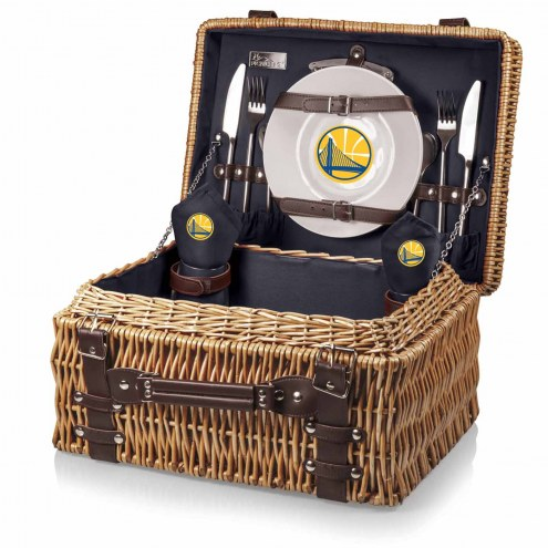 Golden State Warriors Navy Champion Picnic Basket