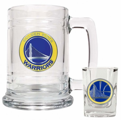 Golden State Warriors NBA Boilermaker Set - Shot Glass & Tankard Mug
