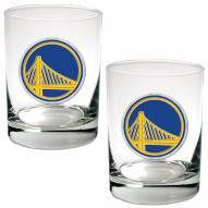 Golden State Warriors NBA 2-Piece 14 Oz. Rocks Glass Set