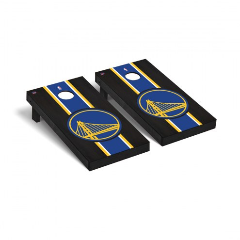 Golden State Warriors Onyx Stained Cornhole Game Set