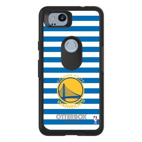Golden State Warriors OtterBox Google Pixel 2 Symmetry Stripes Case