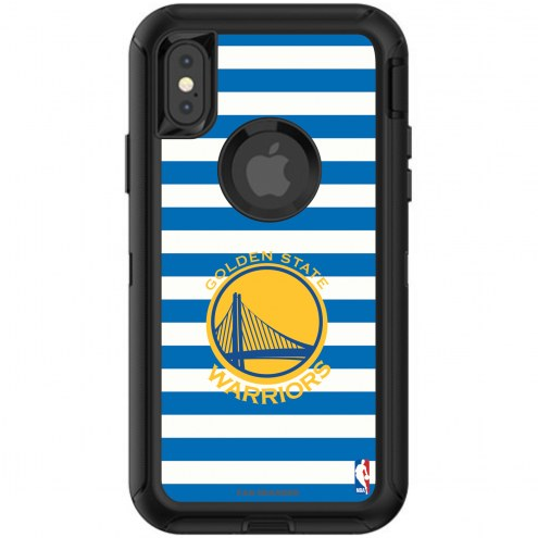 Golden State Warriors OtterBox iPhone X/Xs Defender Stripes Case