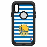 Golden State Warriors OtterBox iPhone XR Defender Stripes Case