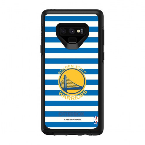 Golden State Warriors OtterBox Samsung Galaxy Note9 Symmetry Stripes Case