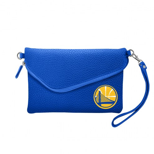 Golden State Warriors Pebble Fold Over Purse