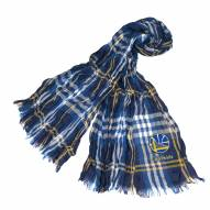 Golden State Warriors Plaid Crinkle Scarf