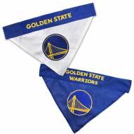 Golden State Warriors Reversible Dog Bandana