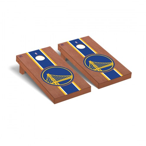 Golden State Warriors Rosewood Stained Cornhole Game Set