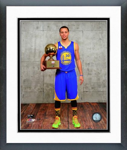 Golden State Warriors Steph Curry with the 3 Point Contest Trophy Framed Photo