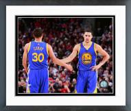 Golden State Warriors Stephen Curry & Klay Thompson Action Framed Photo