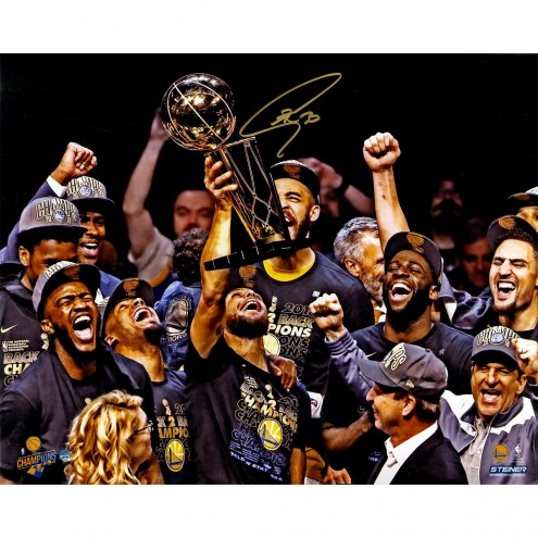 Golden State Warriors Stephen Curry Signed '2018 NBA Finals Champion Holding Trophy' 16 x 20 Photo