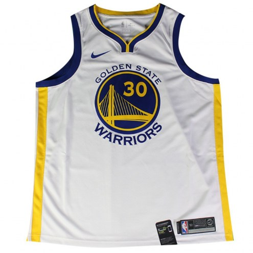 Golden State Warriors Stephen Curry Signed Nike White Swingman Jersey