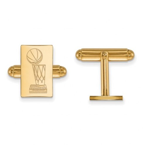 Golden State Warriors Sterling Silver Gold Plated Cuff Links