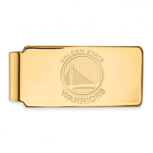 Golden State Warriors Sterling Silver Gold Plated Money Clip