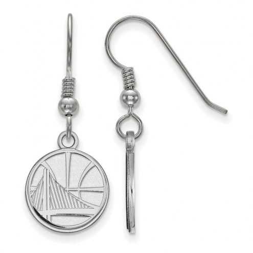 Golden State Warriors Sterling Silver Small Dangle Earrings