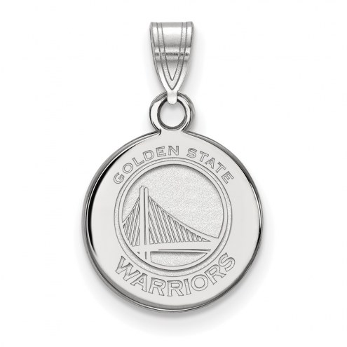 Golden State Warriors Sterling Silver Small Disc Pendant