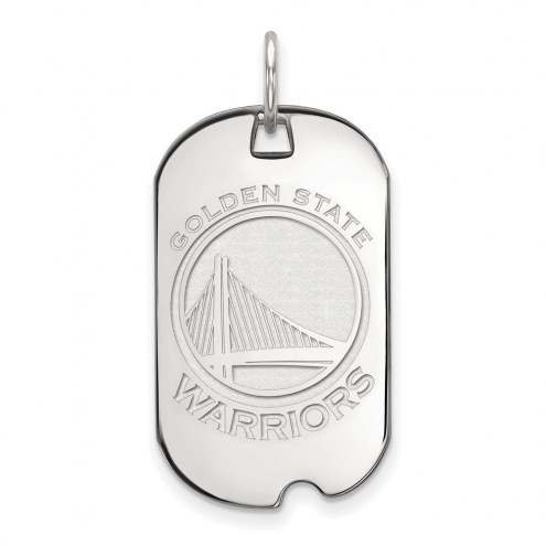 Golden State Warriors Sterling Silver Small Dog Tag