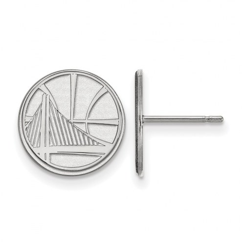 Golden State Warriors Sterling Silver Small Post Earrings