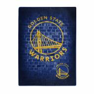 Golden State Warriors Street Raschel Throw Blanket